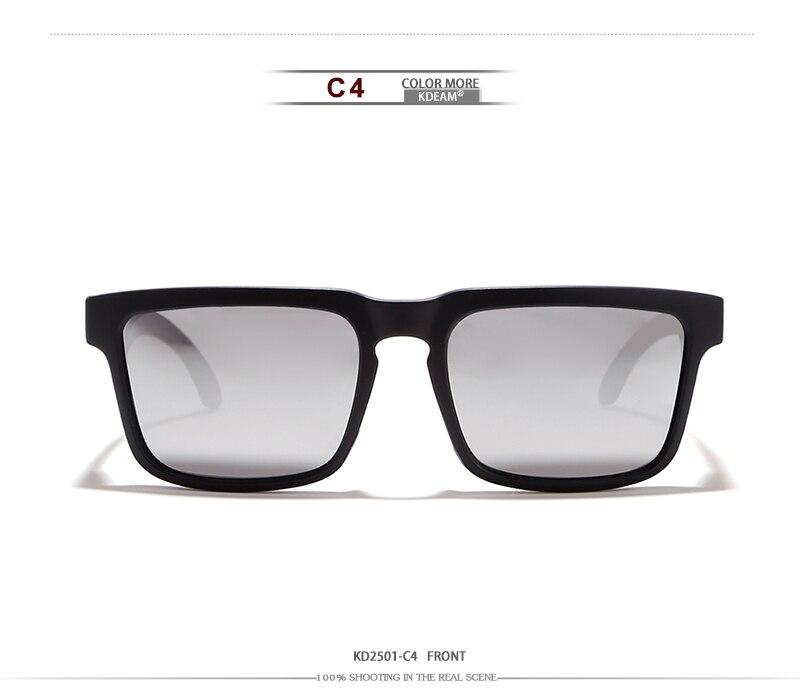 Soleil Mirrored Lunettes Marque De Avec Polarisées Carré Oculos Sol Kdeam Pour Vacances Étui Beach Femmes Hommes Designer K1Jc3TFul