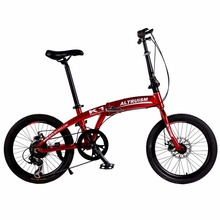 Altruism K1 Mountain Bike 20'' Aluminum Girls bicycle 7-Speed Top Quality folding bicycles with disc brake Folding Bike(China)