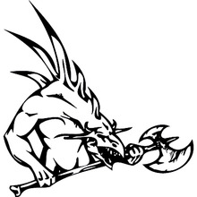 19.4cm*20cm Domineering Dragon Bardian Vinyl Car Sticker Motorcycle Decals Black/Silver S6-3061(China)
