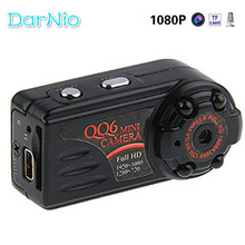 Mini Camera HD 1080P 720Parrival Smallest Full Mini DV Camera Camcorder IR Night Vision Motion Detect DVR QQ6 Spied Freeshipping