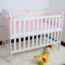 Wooden Baby Bed High Quality 120*65cm Crib For Children Cot For Kids Game Bed With Wheels(China)
