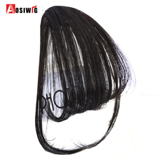 Buy AOSIWIG Short Synthetic Bangs Heat Resistant Synthetic Hair Women Natural Short Fake Hair Bangs Women Hair Pieces for $3.21 in AliExpress store