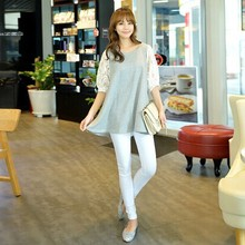 2015 New Lace Crochet T Shirts Casual Women Tops Spring Women's Plus Size Lady Summer Blusa Womens Clothing 38