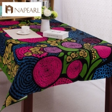 Party Table Cloth Waterproof Oilproof Square TableCloth Printed Nappe Table Cover Overlay(China)