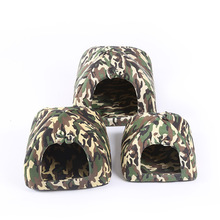 Pet Cat House Foldable Soft Winter Camouflage Dog Bed Mongolian Yurts Dog House Cute Kennel Nest Dog Fleece Cat Bed(China)