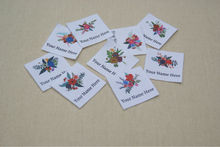 40 Watercolor Floral Logo Labels - Organic Cotton Personalized Tags - Iron On  Name Tags