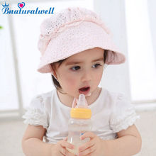 Bnaturalwell Infant Bonnet Toddler Bonnet Retro Baby girls Christening/ Baptism Cap Nordic Vintage Pattern Cotton 1pc H833