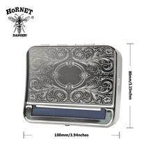 Silver Metal 78mm Automatic Cigarette Tobacco Roller Rolling Machine Box Case For 78mm Papers.Pattern Random(China)