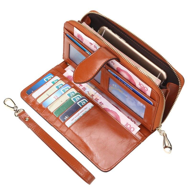 Women Clutch Wallet Genuine Leather Brands Wallets Phone Pocket Purse Female Pouch Bolsas Carteira Feminina<br><br>Aliexpress