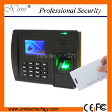 Standalone time recorder fingerprint recognition 125KHz TCP/IP communication Web-server T9 input biometric clock office device