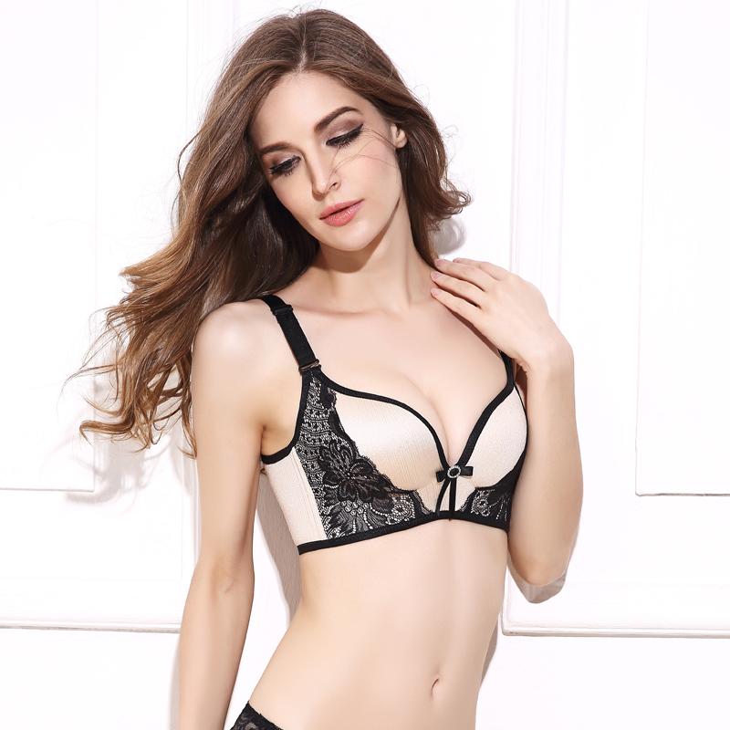 DeRuiLaDy Women Push Up Bra Lace Bralette Adjusted Comfortable Wireless Bra Underwear Women Sexy Lingerie Plus Size C D Cup 8