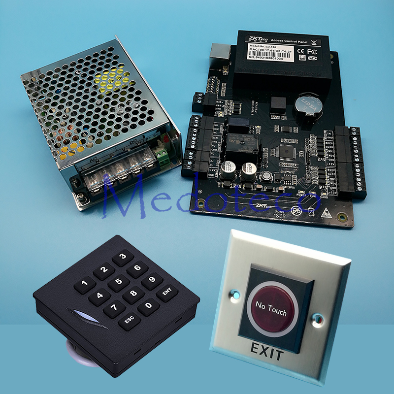 C3 100 tcpip rfid door access control system kit keypad reader door c3 100 tcpip rfid door access control system kit keypad reader door access controller 030b power suppply no touch exit button fandeluxe Gallery