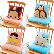 Plush 1pc 150cm soft sum Chipmunks princess Donald Duck rest office cushion + warm blanket stuffed toy romantic gift for baby