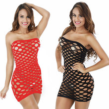 Elasticity Cotton Lenceria Sexy Lingerie Hot Mesh Baby Doll Dress Erotic Lingerie For Women Sex Costumes Fishnet Underwear(China)