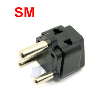 Universal UK USA Europe AU RU to Ture South Africa Big 15A 250V 3 Pin Travel AC Power Plug Splitter Adapter Type M Plug
