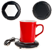 USB Cup Warmer Portable USB Electronic Gadget Novelty Powered Cup Warmer Coffee Tea Drink USB Heater Tray Pad with On/Off Switch(China)