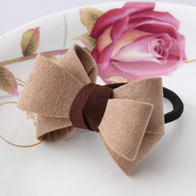 M MISM New Europe Korean Style Girls Hair Accessories Big Bow Dot Flora Rubber Ponytail scrunchy Hair Rope Elastic Hair Bands(China)