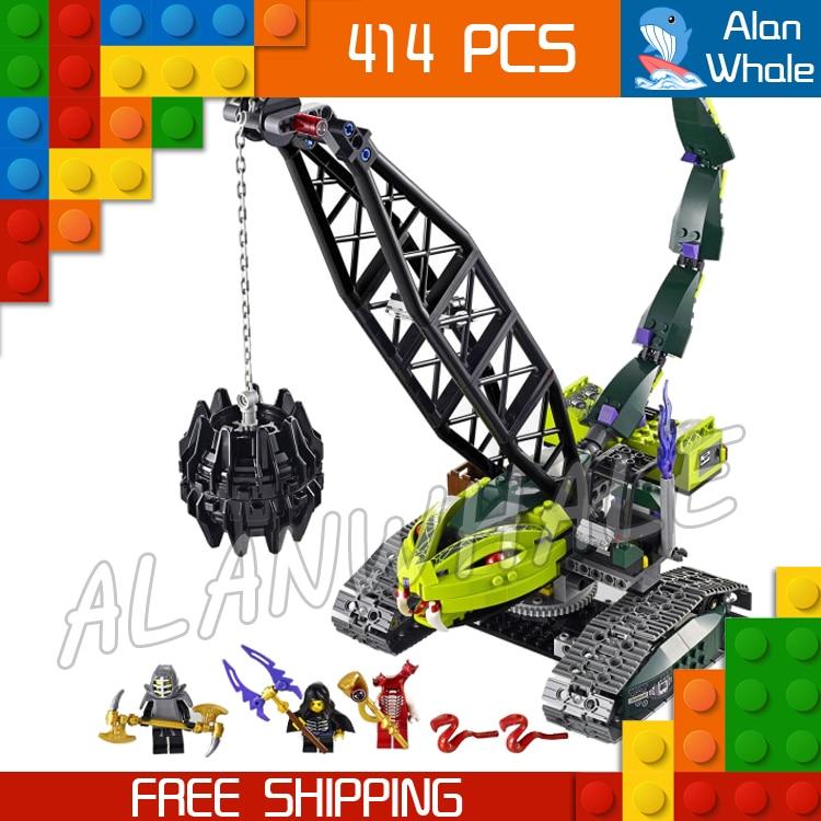 414pcs New Ninja Fangpyre Wrecking Ball 9761 Model Building Blocks Kid Assembling Bricks Toys Original Box Compatible with Lego<br>