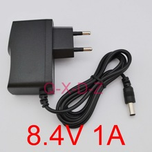 1PCS High quality 8.4V 1A polymer lithium battery charger 8.4 V1A Power Adapter Charger Dual  IC 8.4V1A DC 5.5mm*2.1mm EU plug