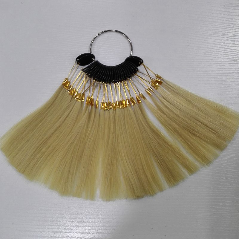 6inch human hair color ring for salon hair color chart naturalblonde color(China)