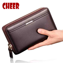 NEW fashion men's wallet men Business purse Clutch luxury wallets Casual High capacity men money clip purse for coins phone bag