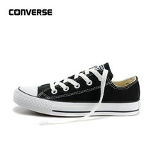 Nieuwe Aankomst Authentieke Converse All Star Classic Canvas Low Top Skateboarden Schoenen Unisex Anti-Gladde Sneakser(China)