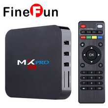 FineFun New MX Pro S905 Android 5.1 TV BOX 1GB/8GB Gigabit LAN WiFi H.265 KODI 16.0 Loaded Smart TV HDD player Free Shipping
