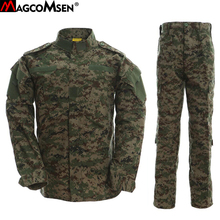 MAGCOMSEN Man Military Tactical Jacket and Cargo Pants Suits Ripstop Camouflage Multicam Combat Uniforms CS Game Army Clothing(China)