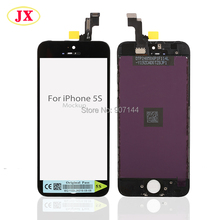 50pcs/lot Accpet mix color white/black Lcd screen for iphone 5s lcd display by DHL UPS EMS free shipping(China)