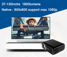 1800lumen Home Theater Portable Digital Mini LED LCD Projector HD 1080P Support USB SD VGA ATV HDMI BL80 Remote Control Hot Sale