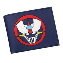 GAME MAZINGER Z Cartoon Wallets Women men Wallets Leather Purse Wholesale Short Slim Bifold Coin bolso Invoice Pocket