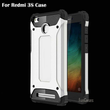 For Redmi 3S Case Soft TPU and Hard PC Diamond Armor Back Cover New luxury For Xiaomi Redmi 3S Phone Case Dirt-resistant 5 inch