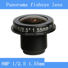 CCTV lenses 8MP 1/2.5 HD 1.55mm fisheye panoramic surveillance camera 185 degrees wide-angle infrared lens M12 lens thread