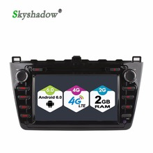 C500 Quad Core 4G SIM LTE Android 6.0 Car DVD player For For Mazda 6 2008-2012 6 Ruiyi 6 Ultra WIFI Bluetooth RDS Radio GPS Map(China)