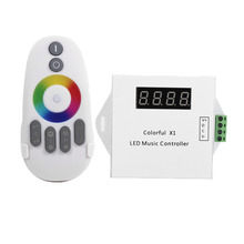 New Arrival Music Remote Controller WS2811/WS2812B/WS2813/USC1903 LED Digital Music Controller with RF Touch Remote Control(China)