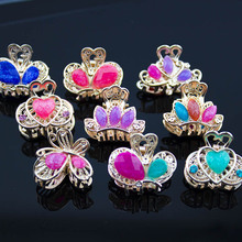 6 Pcs Hair Ornament Rhinestone claw clip Headwear Accessories Crystal Metal Hair Claw Clip for women Jewelry Crab claw hair clip(China)