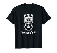 Бренд Футболку Мужчины 2018 Мода Шею Лучшие Продажи Мужской Натуральный Хлопок Рубашка Германия Футбольных Футболки Онлайн(China)