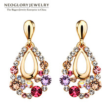 Neoglory Chandelier Austrian Multi Colorful Dangle Earrings Gift Girl Friend Brand Fashion Statement Jewelry 2017 New Hot Colf