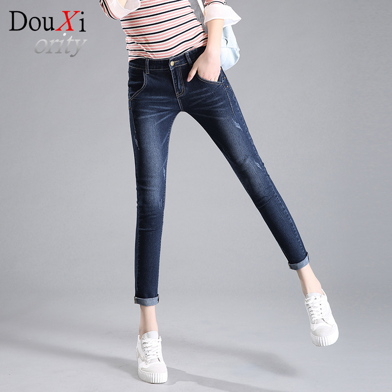 spring autumn jeans women full length pants Skinny Pencil Pants Jeans 2 colors denim jeans feminina hot pants Одежда и ак�е��уары<br><br><br>Aliexpress