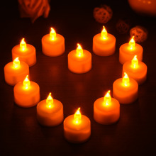 6/12pcs Benefits New Wedding Party Home Decoration Flameless Led Candle Lamp Night Lights Tealights 12pcs/lot(China)