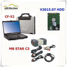 Free shipping mb star c3 with HDD with CF52 diagnostic computer used High Quality For Panasonic Toughbook CF-52 2g laptop