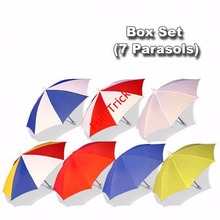 Parasol Box Set (7 Parasols)  (Medium)  -- Magic Trick , Parasol Production Magic