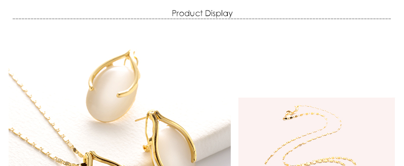 AYAYOO Opal African Beads Jewelry Set For Women Wedding Yellow Gold Color Statement Necklace Set Indian Bridal Jewelry Sets (1)