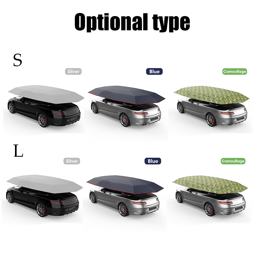 Cloth Cover Tent Car-Umbrella Polyester-Covers Sun-Shade Auto-Accessories Outdoor Car title=