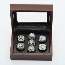 Cost Price Ring sets with Wooden Box Replica Baseball Copper High Quality 7pcs/Packs Yankees sports world Fans Championship Ring