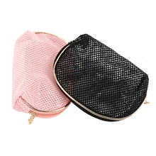 Waterproof PVC Transparent Mesh Cosmetic Bags Organizer Travel Toiletry Storage Bag