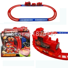 Children Toys Electric Railcar Rail Train Track Model Slot Train Orbit Car Electric Train Kids toy gift for kids(China)