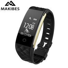 Makibes S2 Smart Bracelet Bluetooth 4.0 IP67 Waterproof Heart Rate Monitor Smart Band 0.96 inch OLED Screen Fitness Tracker