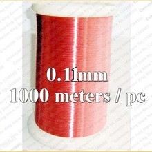 0.11mm 1000 meters/pcs QA-1-155 Red Magnet Wire 0.11mm Enameled Copper wire Magnetic Coil Winding 0.11 mm