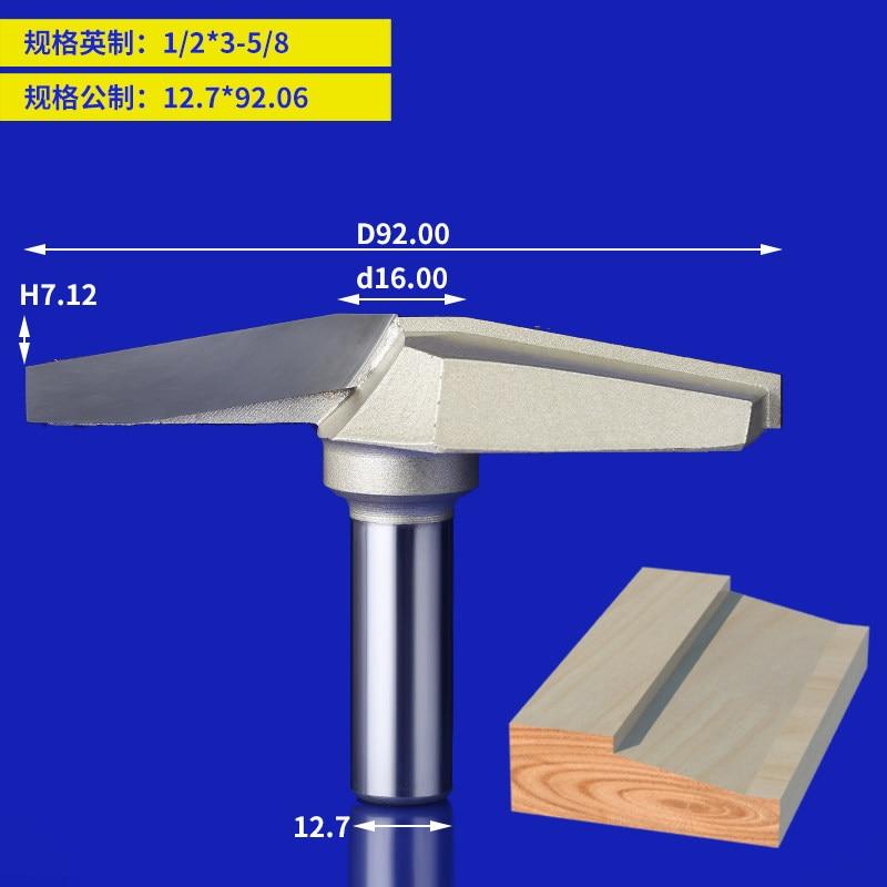 1pcs 1/2 Shank Professional 10Deg  Router Bit  Clear bottom knife Woodworking Cutters Classical Plunge Bit 1/2*3-5/8<br>